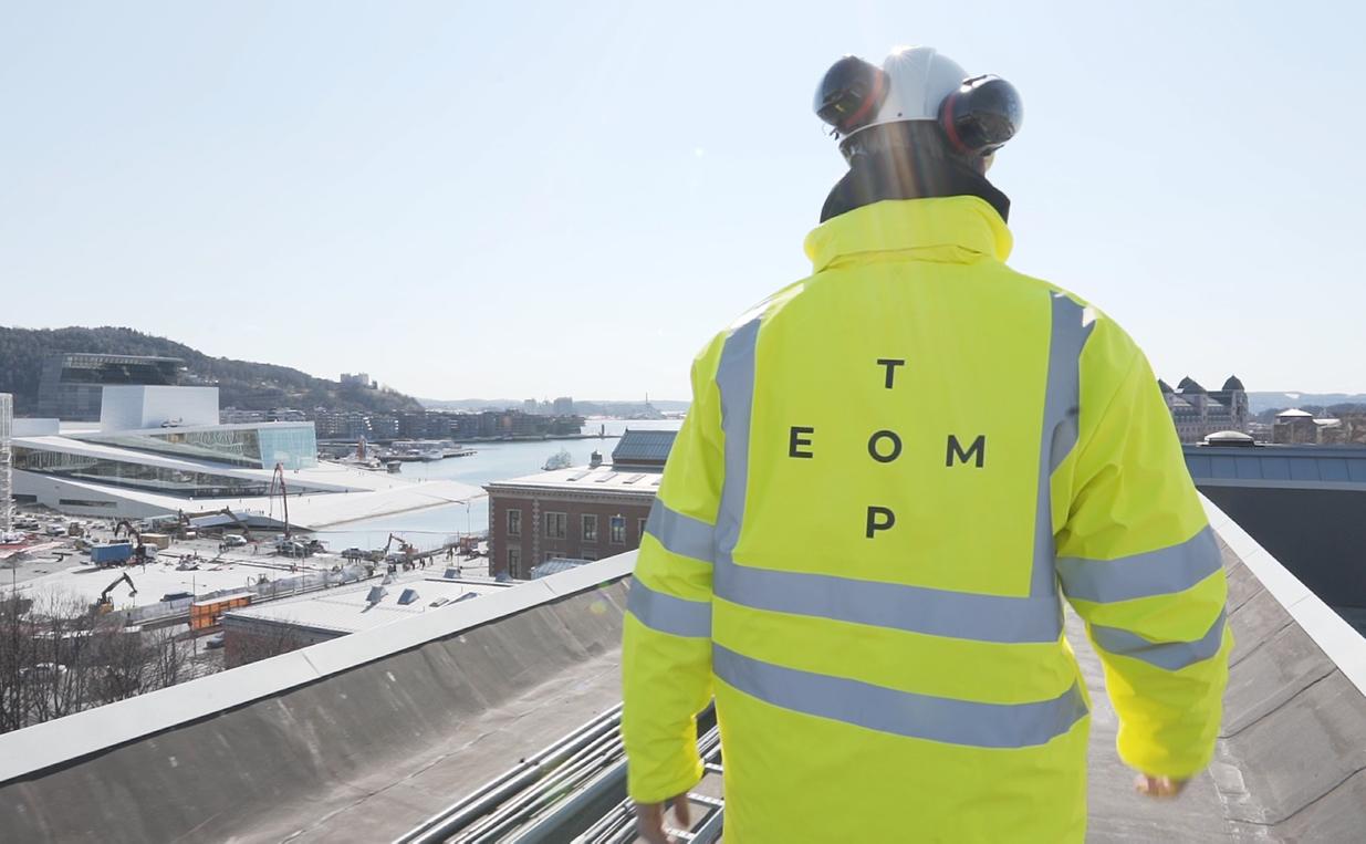 Toptemps elektriker på jobb ved Operaen i Oslo